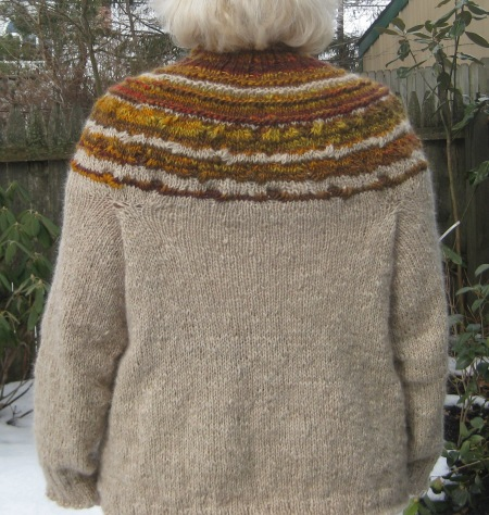 sweater yoke back